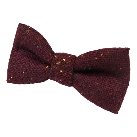 Carter Tweed Wool Burgundy Red Boys Kids Bow Tie | Dickie Bow