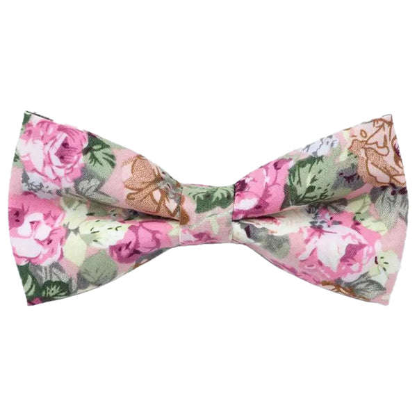 Penelope Pink Floral Bow Tie and Pocket Square Set