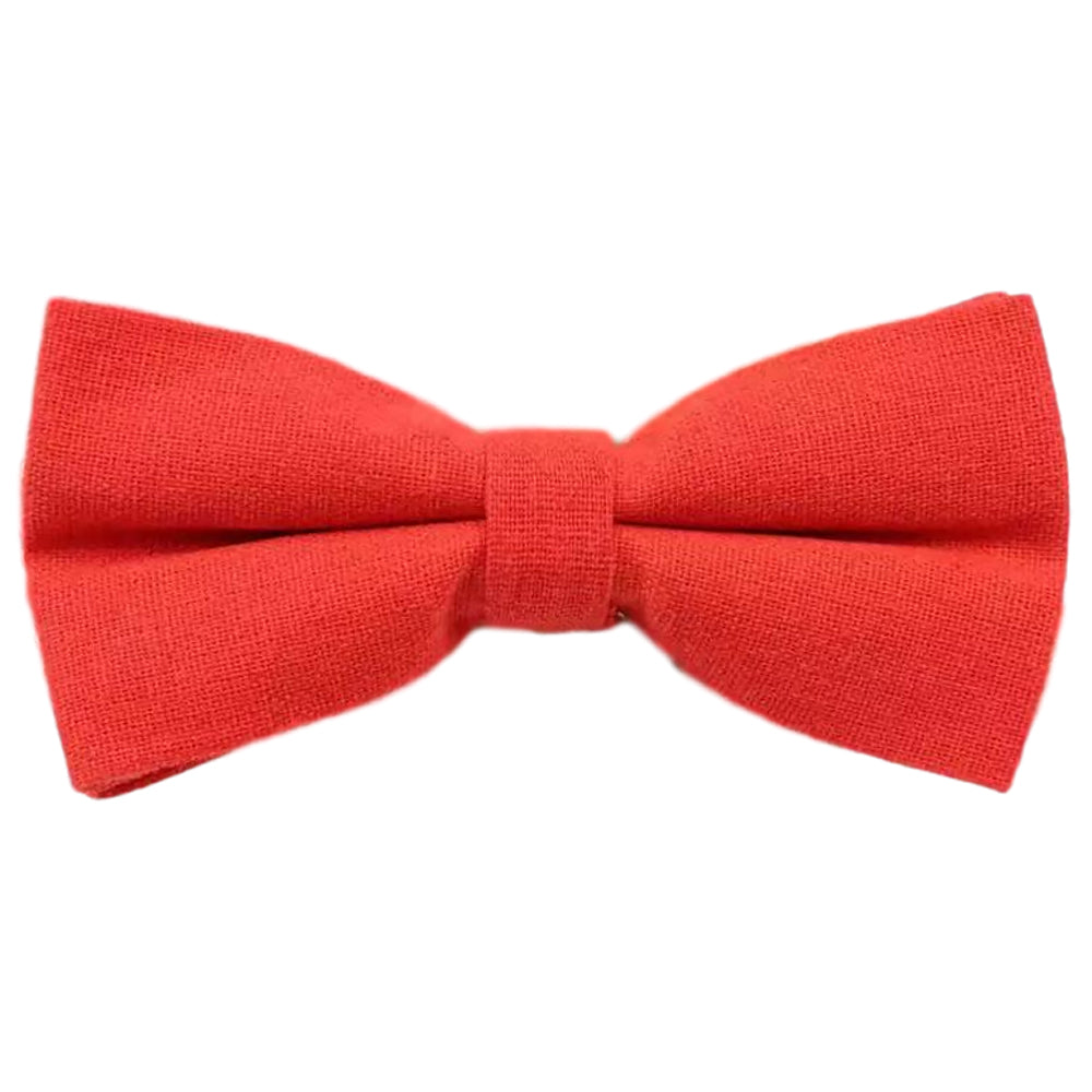 Phoenix Cotton Red Bow Tie | Dickie Bow