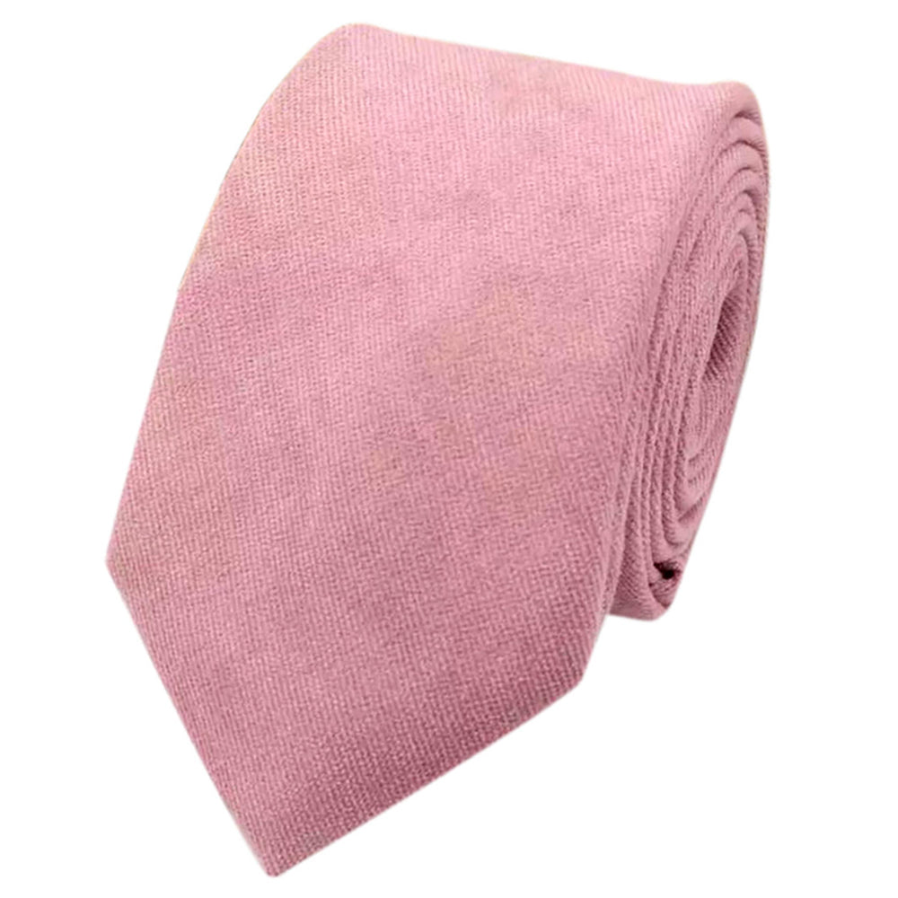 Rose Dusty Rose Pink Cotton Tie