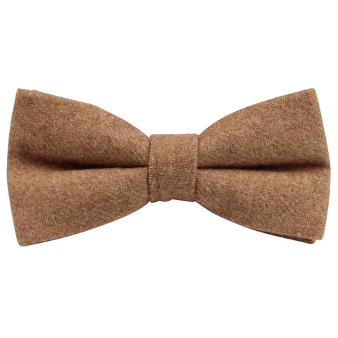 Rufus Brown Tan Tweed Bow Tie | Dickie Bow