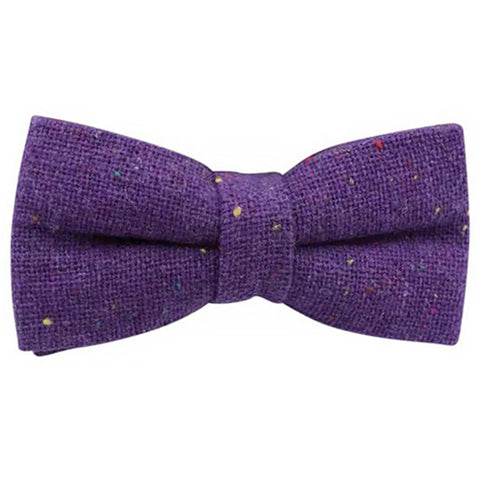 Theo Purple Fleck Mens Tweed Bow Tie