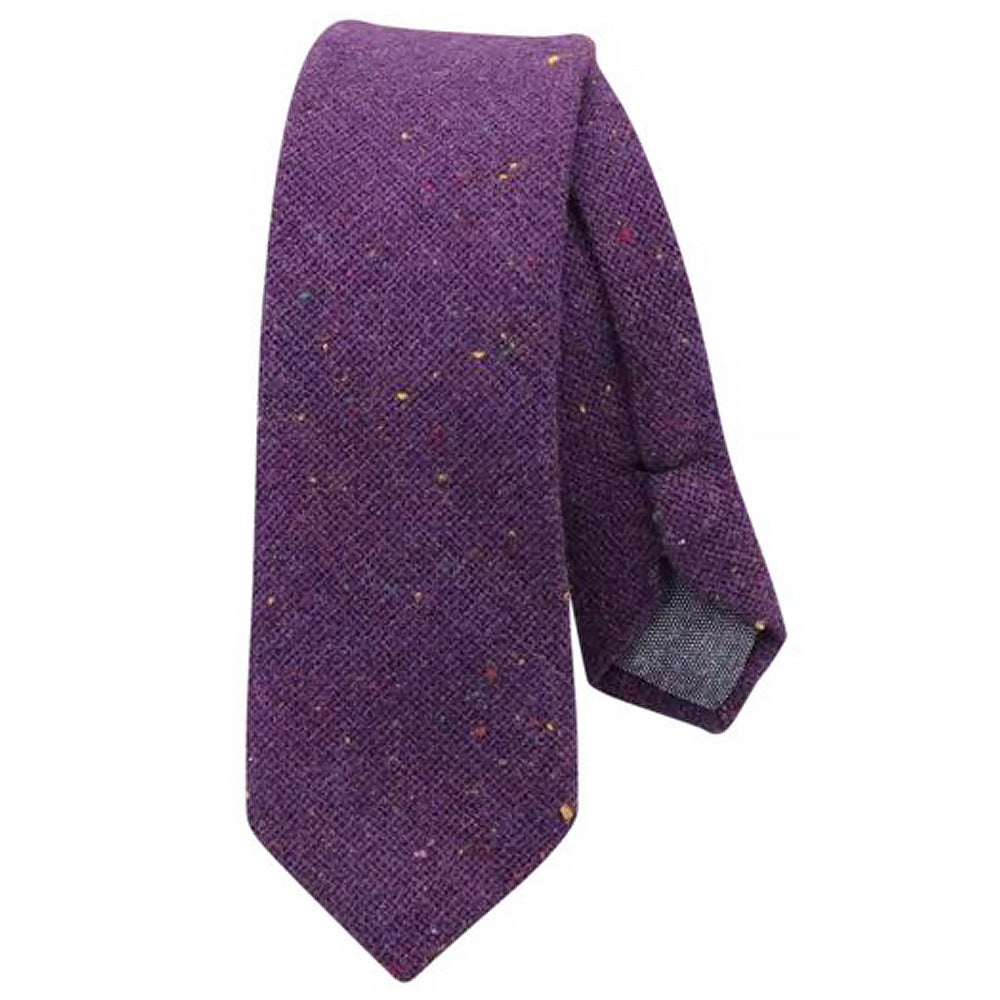 Theo Purple Flecked Mens Tweed Tie | Dickie Bow