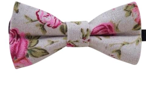 Andrew Floral Boys Bow Tie and Navy Braces | Dickie Bow