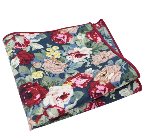 Bobby Blue Floral Pocket Square