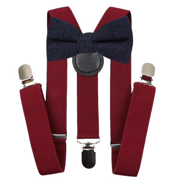 Boys Burgundy Braces | Dickie Bow