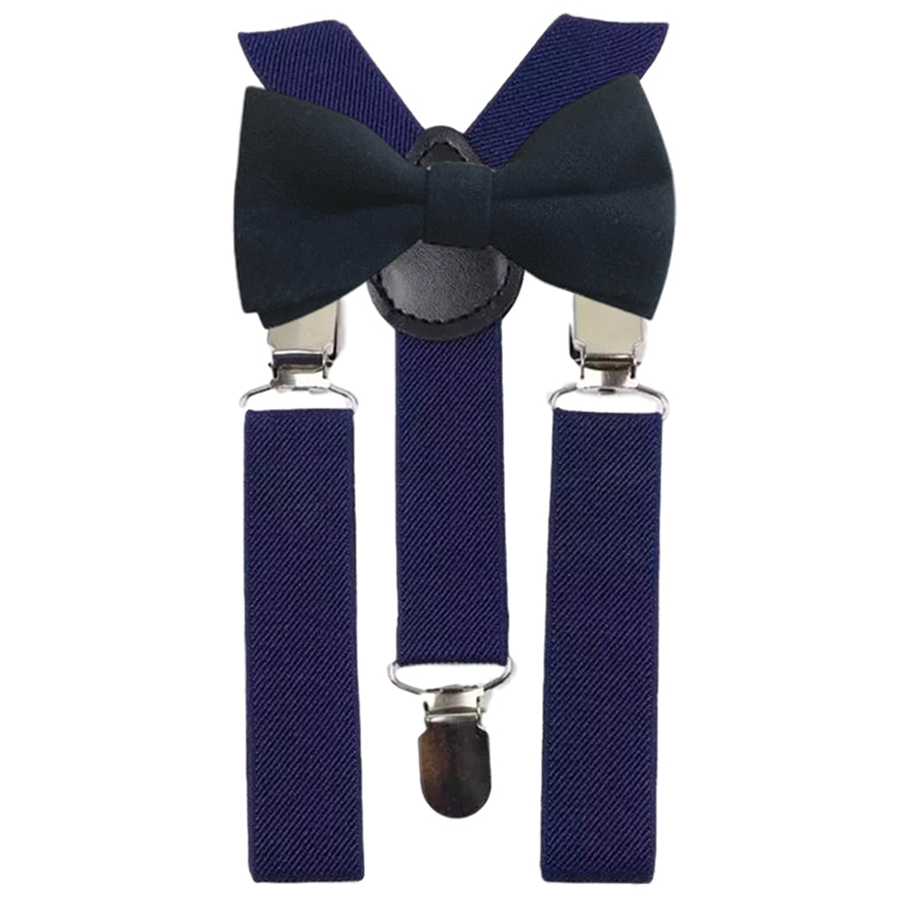 Oliver Boys Navy Blue Bow Tie and Navy Braces | Dickie Bow