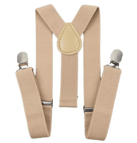 Vintage Cream Beige Boys Braces | Dickie Bow