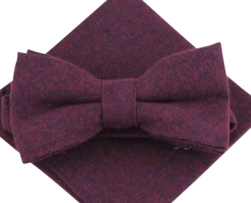 Emily Burgundy Red Bow Tie and Pocket Square | Dickie Bow