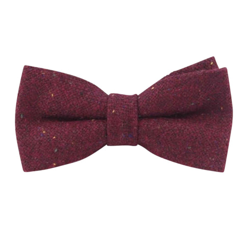 Carter Tweed Burgundy Red Bow Tie | Dickie Bow