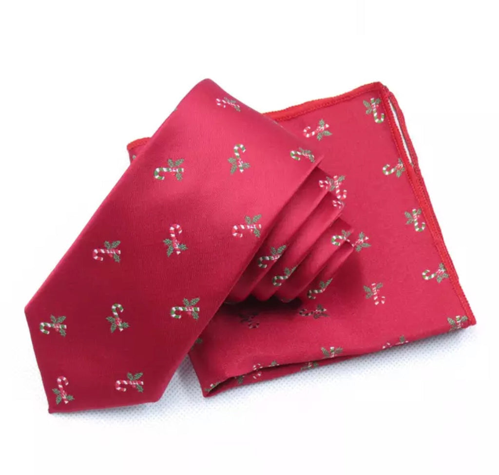 Holly Christmas Red Tie Only | Dickie Bow