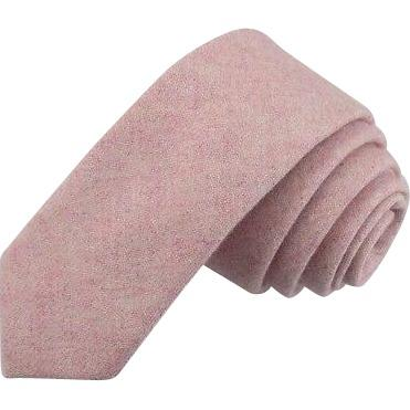 Leah Dusty Pink Tweed Wool Classic Tie | Dickie Bow