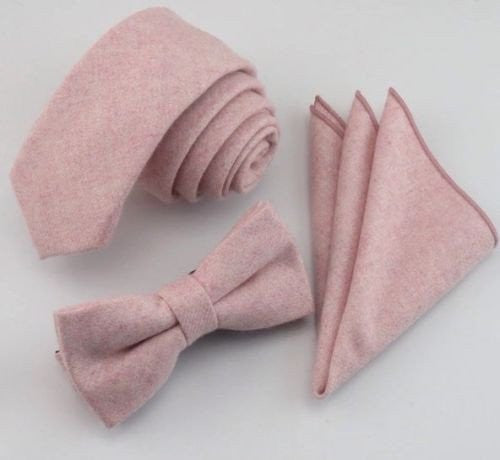 Leah Mens Dusty Pink Bow Tie | Dickie Bow