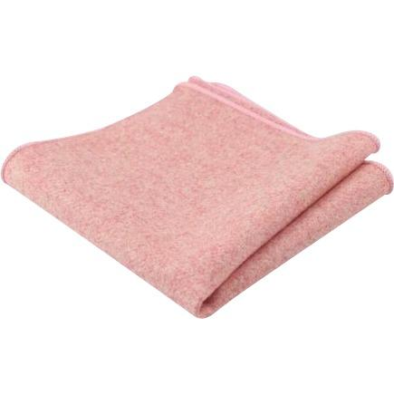 Ariah Pink Wool Pocket Square
