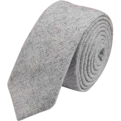 Betsy: The Vintage Grey Tweed Skinny Tie