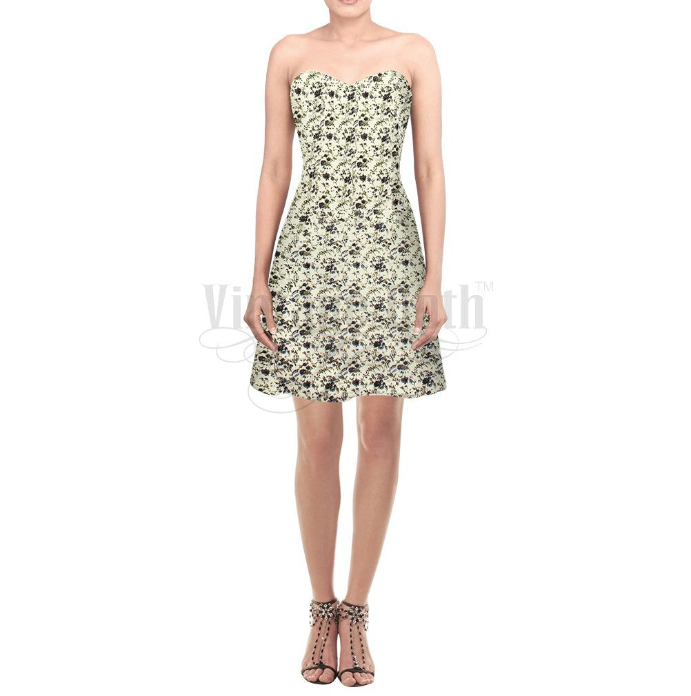 Walburga Printed Cotton Corset Dress