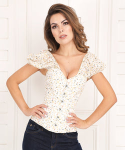 Floral Overbust Corset in Cotton - Summer 2018