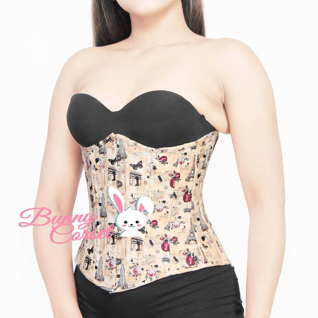 Kensley Waist Trainer Printed Faux Leather Corset