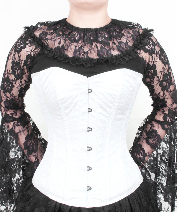 Buttercup Steel Boned Overbust Corset in Brocade