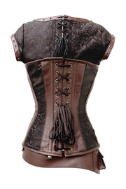 Lazare Steampunk Overbust Corset with Detachable Belt