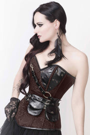 Liz Custom Made Steampunk Overbust Corset with Shrug