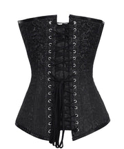 SOLD OUT - Overbust Black Brocade Gothic Corset