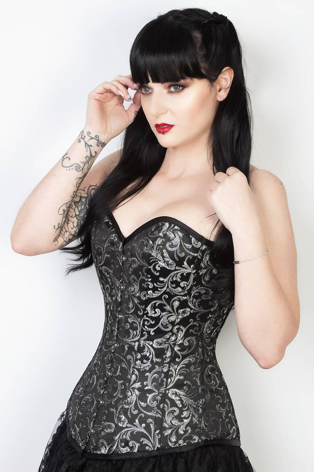 Alcott Cotton Lined Brocade Corset
