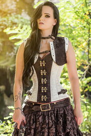 Bertram Steampunk Overbust Corset with Shrug