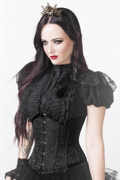 Rochelle Custom Made Brocade Underbust Steel Bone Corset