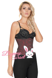 Finch Brocade Underbust Steel Bone Corset