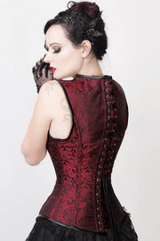 Ariana Gothic Steel Boned Corset with Shoulder Straps