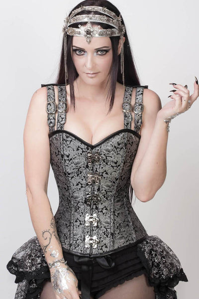 Alyssa Custom Made Gothic Overbust Corset with Shoulder Straps
