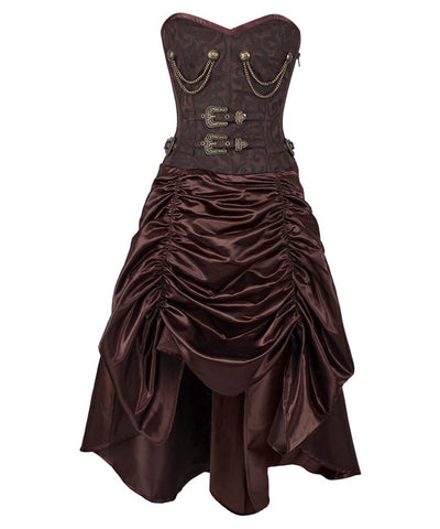 Trennen Steel Bone Steampunk Corset Dress