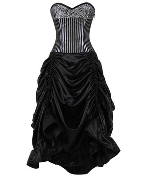 Caitrin Brocade Corset Dress