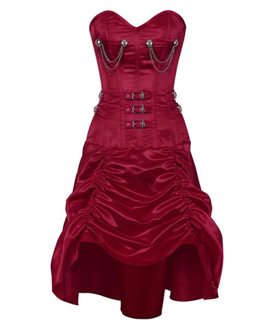 Holea Overbust Gathered Corset Dress