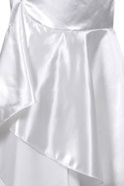 Elya Custom Made White Long Skirt with Ruffle