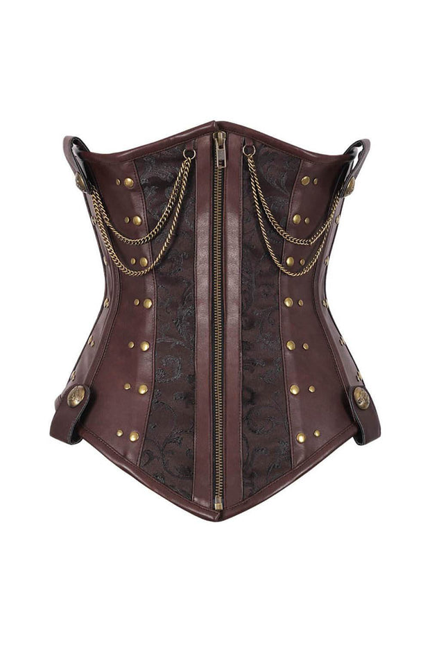 Dasha Steampunk Underbust Corset with Chains
