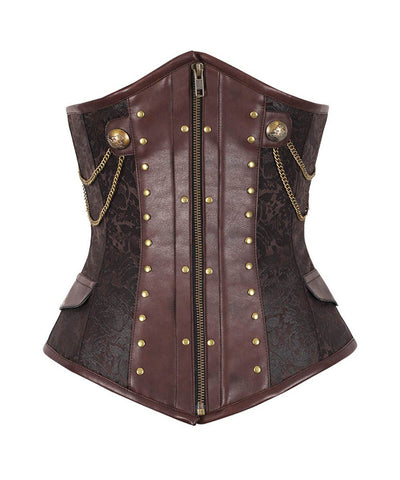 Geremia Underbust Steampunk Corset with Chains