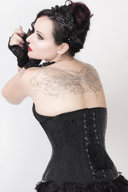 Rosy Black Gothic Waist Training Corset
