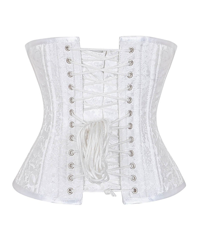 Beatriz White Waist Training Plus Size Corset