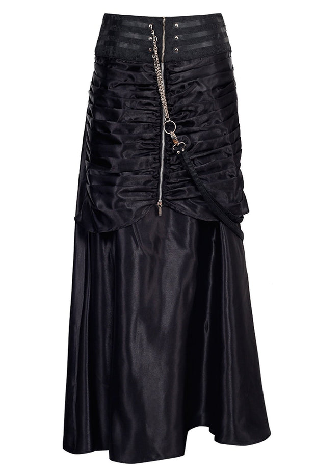 Lenard Custom Made Gothic Black Skirt