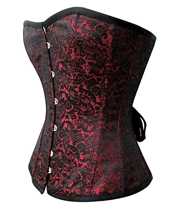 Brayden Steel Boned Overbust Corset in Brocade