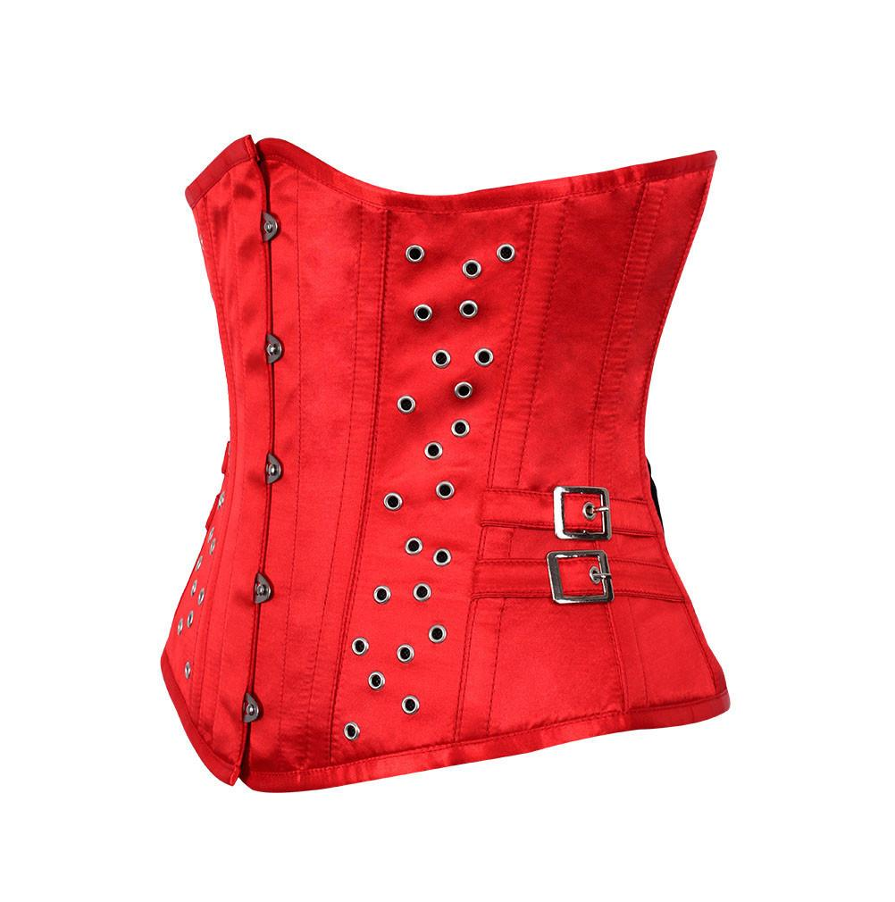Koby Red Satin Corset