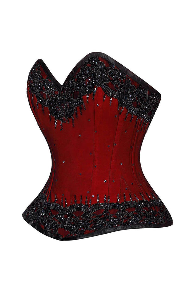 Leksi Custom Made Lace Overlay Overbust Couture Corset