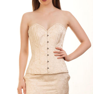 Hubert Brocade Overbust Steel Bone Corset