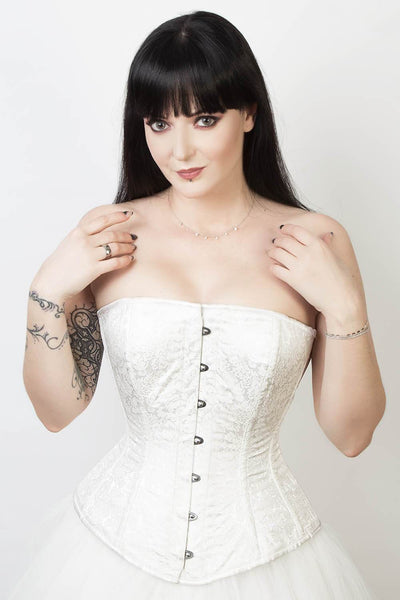 Edwardian Custom Made Long Line Brocade Corset (ELC-401)