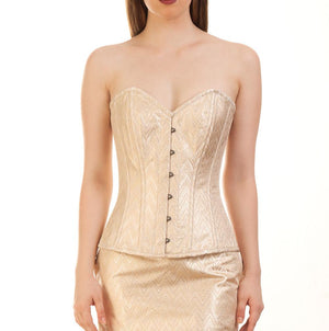 Kayana Brocade Corset Steel Boned