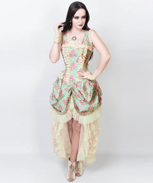 Averil Victorian Inspired Dress in Taffeta