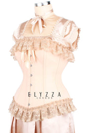 Burlesque Long Line Cotton Corset (ELC-401)