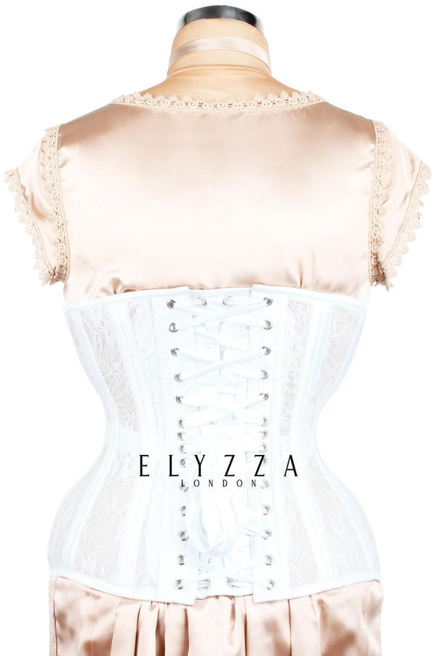Mesh with Lace Overlay Waist Trainer Corset (ELC-102)
